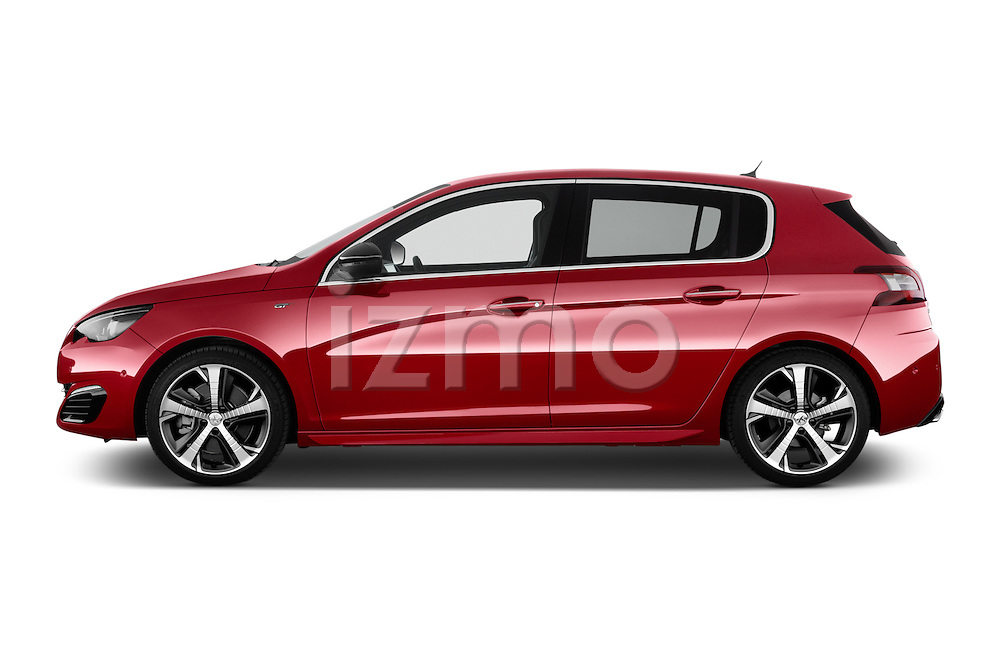 2015 Peugeot 308 Gt 5 Door Hatchback Side View Car Pics Izmostock