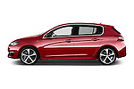 Car Driver side profile view of a 2015 Peugeot 308 GT 5 Door Hatchback Side View