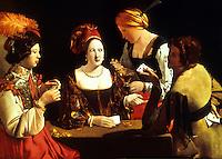 Georges de La Tour 1593-1652:  Le Tricheur. Louvre.  Reference only.