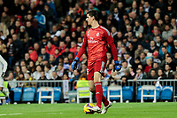 Real Madrid's Thibaut Courtois during La Liga match between Real Madrid and Valencia CF at Santiago Bernabeu Stadium in Madrid, Spain. December 01, 2018. (ALTERPHOTOS/A. Perez Meca) /NortePhoto NORTEPHOTOMEXICO