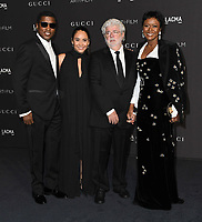 03 November 2018 - Los Angeles, California - Babyface, Kenny Edmonds, George Lucas. 2018 LACMA Art + Film Gala held at LACMA.  <br /> CAP/ADM/BT<br /> &copy;BT/ADM/Capital Pictures
