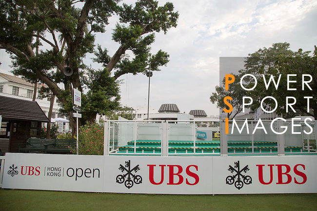 Branding during the 58th UBS Hong Kong Open as part of the European Tour on 07 December 2016, at the {sublocation}, Fanling, Hong Kong, China. Photo by Vivek Prakash / Power Sport Images