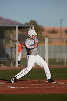 Samuel Corn (14) of Cumberland Regional High School in Bridgeton, New Jersey during the Baseball Factory All-America Pre-Season Tournament, powered by Under Armour, on January 14, 2018 at Sloan Park Complex in Mesa, Arizona.  (Freek Bouw/Four Seam Images)