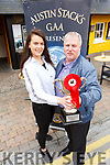 Norma and Kevin wont give ur their title from 2017 without a Dance Battle as they help launch the Austin Stack Strictly Come Dancing outside the Brogue Inn on Monday.<br /> Front l to r: Norma O&rsquo;Connor and Kevin Cotter.