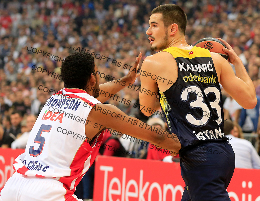 Kosarka Euroleague season 2015-2016<br /> Euroleague <br /> Crvena Zvezda v Fenebahce Istanbul<br /> Nikola Kalinic and Ryan Thompson (L)<br /> Beograd, 06.11.2015.<br /> foto: Srdjan Stevanovic/Starsportphoto &copy;