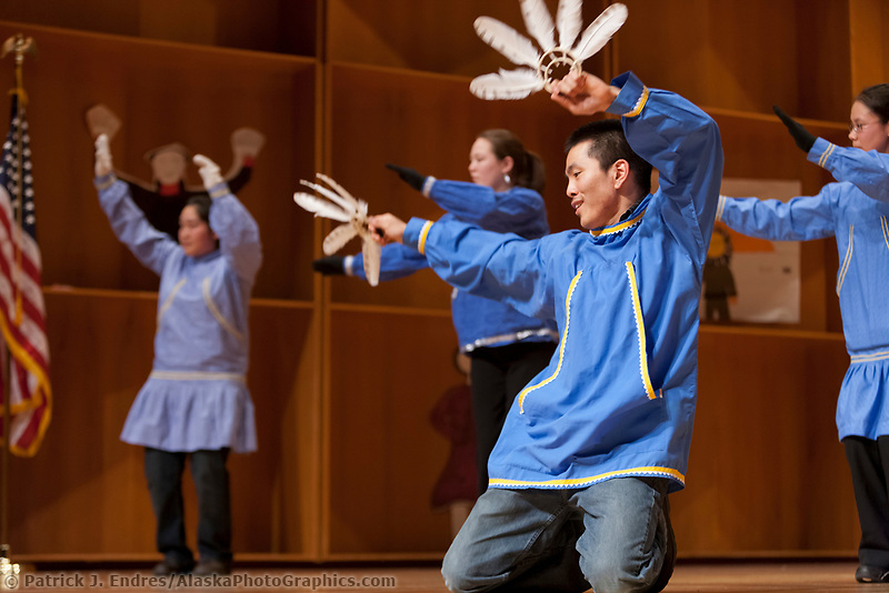 Inu-Yupiaq Dancers perform native dance at the 2009 Festival of Native Arts, Fairbanks, Alaska. The festival is one of interior Alaska's greatest celebrations of Alaska Native culture.