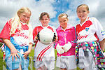 Taking part in the Kilcummin GAA Cúl Camp last week. .L-R Claire Stagg, Megan Linehan, Eabha Dwyer and Abbey O'Leary.