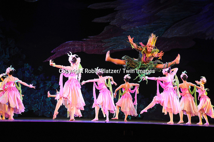 """The dancers dancing with The China Jinling Dance Company of Nanjing in """" The Peony Pavilion"""" on January 5, 2012 at the David Koch Theatre in Lincoln Center."""