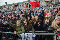 Scrap Trident protest organised by CND in London. 27-2-16