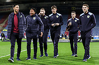 Burnley players inspecting the pitch before the match<br /> <br /> Photographer Andrew Kearns/CameraSport<br /> <br /> The Premier League - Huddersfield Town v Burnley - Wednesday 2nd January 2019 - John Smith's Stadium - Huddersfield<br /> <br /> World Copyright © 2019 CameraSport. All rights reserved. 43 Linden Ave. Countesthorpe. Leicester. England. LE8 5PG - Tel: +44 (0) 116 277 4147 - admin@camerasport.com - www.camerasport.com