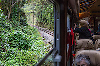 Peru, Machu Picchu.  Rail Line from Ollantaytambo to Machu Picchu.