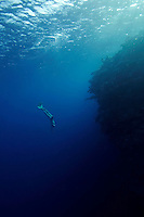Bjarte Nygard (Norway) freediving in a spot called The Bells near Blue Hole, Dahab,Sinai in Egypt. © Fredrik Naumann/Felix Features