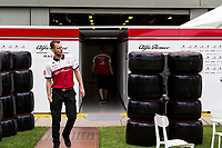 13th March 2020; Melbourne Grand Prix Circuit, Melbourne, Victoria, Australia; Formula One, Australian Grand Prix, Practice Day; Alfa Romeo pack their car away