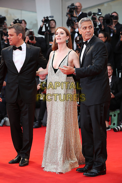 VENICE, ITALY - SEPTEMBER 02: Matt Damon, Julianne Moore George Clooney - arrivals at the 'Suburbicon' screening during the 74th Venice Film Festival at Sala Grande on September 2, 2017 in Venice, Italy.<br /> CAP/GOL<br /> &copy;GOL/Capital Pictures