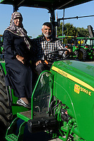 TURKEY Manisa, John Deere Distributor, farmer and his wife buy new tractor / TUERKEI Manisa, John Deere Haendler, Farmer und seine Frau kaufen neuen Traktor