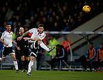 Billy Sharp of Sheffield Utd takes a shot on goal - English League One - Scunthorpe Utd vs Sheffield Utd - Glandford Park Stadium - Scunthorpe - England - 19th December 2015 - Pic Simon Bellis/Sportimage