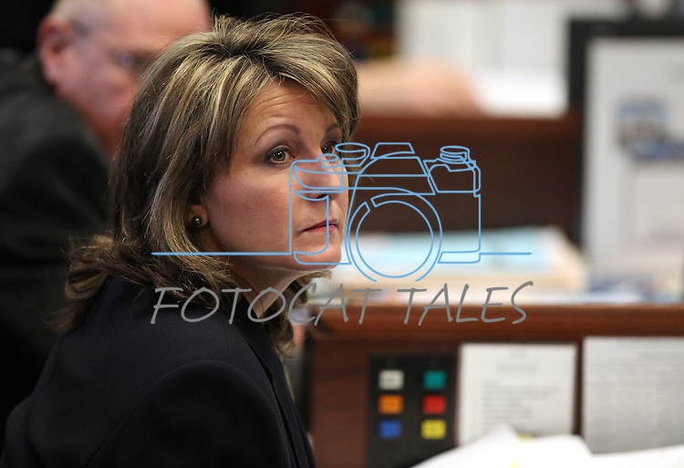 Nevada Sen. Allison Copening, D-Las Vegas, listens on the Senate floor Tuesday, May 10, 2011, at the Legislature in Carson City, Nev..Photo by Cathleen Allison