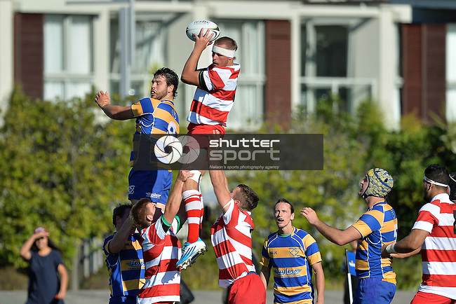 Division 1 Rugby Wanderers v WOB, Trafalgar Park, Nelson, New Zealand, 21 March 2015, Photos: Barry Whitnall/shuttersport