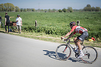 Jens Debusschere (BEL/Lotto-Soudal) chasing<br /> <br /> 115th Paris-Roubaix 2017 (1.UWT)<br /> One Day Race: Compiègne › Roubaix (257km)