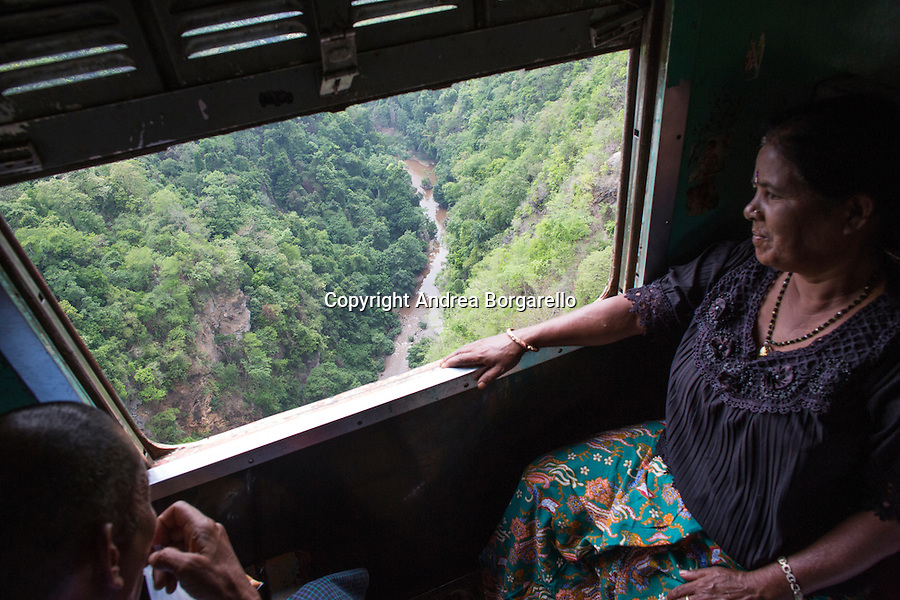 On the train from Pyin Oo Lwin to Hsipaw, Myanmar
