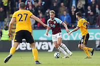 Burnley's Charlie Taylor under pressure from Wolverhampton Wanderers' Joao Moutinho<br /> <br /> Photographer Rich Linley/CameraSport<br /> <br /> The Premier League - Burnley v Wolverhampton Wanderers - Saturday 30th March 2019 - Turf Moor - Burnley<br /> <br /> World Copyright © 2019 CameraSport. All rights reserved. 43 Linden Ave. Countesthorpe. Leicester. England. LE8 5PG - Tel: +44 (0) 116 277 4147 - admin@camerasport.com - www.camerasport.com
