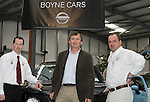 Wesley Gaffney, Frans van der Werff, and Darragh Brennan from Boyne Cars at the Drogheda Motor Show...(Photo credit should read Jenny Matthews www.newsfile.ie)....This Picture has been sent you under the condtions enclosed by:.Newsfile Ltd..The Studio,.Millmount Abbey,.Drogheda,.Co Meath..Ireland..Tel: +353(0)41-9871240.Fax: +353(0)41-9871260.GSM: +353(0)86-2500958.email: pictures@newsfile.ie.www.newsfile.ie.