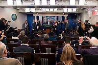 United States President Donald J. Trump makes a statement on coronavirus during a news briefing at the White House in Washington, DC on Sunday, March 15, 2020.<br /> Credit: Chris Kleponis / Pool via CNP/AdMedia