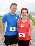 Michael Lindsay and Tracey Halton who took part in the Newtown Blues 12.5K run. Photo: Colin Bell/pressphotos.ie