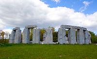 Foamhenge is a realistic replica of the original Stonehenge by fiberglass sculptor Mark Cline made entirely out of foam located in Natural Bridge, Virginia.
