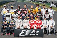 March 20, 2016: The drivers' season photograph at the 2016 Australian Formula One Grand Prix at Albert Park, Melbourne, Australia. Photo Sydney Low