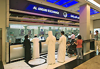 Money exchange bureau at the Mall of the Emirates. Dubai. United Arab Emirates.