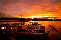 LIVINGSTONE, VICTORIA FALLS, ZAMBIA, DECEMBER 2004. Taking a sunset tour from the Zambezi Waterfront you will see lots of hippo's. Victoria falls on the border between Zambia and Zimbabwe is the outdoor adventure capital of Africa. Photo by Frits Meyst/Adventure4ever.com