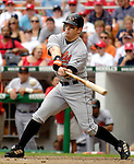 21 May 2006: Jay Gibbons, outfielder for the Baltimore Orioles, at bat during a game against the Washington Nationals at RFK Stadium in Washington, DC. The Nationals defeated the Orioles 3-1 to take 2 of 3 games in their first inter-league series...Mandatory Photo Credit: Ed Wolfstein Photo..