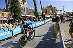 Andrey Amador (CRC) Movistar Team during Stage 1 of the La Vuelta 2018, an individual time trial of 8km running around Malaga city centre, Spain. 25th August 2018.<br /> Picture: Ann Clarke | Cyclefile<br /> <br /> <br /> All photos usage must carry mandatory copyright credit (© Cyclefile | Ann Clarke)