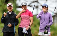 Juliana Hung, Yoonjeong Huh and Silvia Brunotti. New Zealand Stroke Play Championships, Paraparaumu Golf Course, Paraparaumu Beach, Kapiti Coast, Saturday 24 March 2018. Photo: Simon Watts/www.bwmedia.co.nz