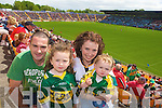 Kerry Fans David, Orlagh, Keelin and Mairead Clifford at the Munster Semi-Final Replay at Park Ui Caoimh on Sunday
