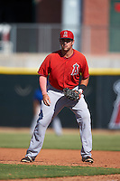 Los Angeles Angels Zachary Houchins (47) during an instructional league game against the Arizona Diamondbacks on October 9, 2015 at the Tempe Diablo Stadium Complex in Tempe, Arizona.  (Mike Janes/Four Seam Images)