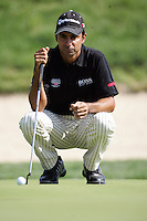 Jyoti Randhawa lines up his putt on the 16th green in the 3rd Round of the Open de Espana in Madrid...Photo NEWSFILE/Eoin Clarke.(Photo credit should read Eoin Clarke/NEWSFILE)....This Picture has been sent you under the condtions enclosed by:.Newsfile Ltd..The Studio,.Millmount Abbey,.Drogheda,.Co Meath..Ireland..Tel: +353(0)41-9871240.Fax: +353(0)41-9871260.GSM: +353(0)86-2500958.email: pictures@newsfile.ie.www.newsfile.ie.FTP: 193.120.102.198..