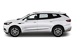 Car driver side profile view of a 2018 Buick Enclave Avenir 5 Door SUV