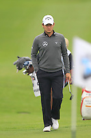 Emiliano Grillo (ARG) on the 1st green during Saturay's Round 3 of the 2014 BMW Masters held at Lake Malaren, Shanghai, China. 1st November 2014.<br /> Picture: Eoin Clarke www.golffile.ie