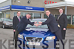CAR: Kieran Star Donaghy who was presented with the keys of the all new Volvo S40 1.8 Flexifuel R-Design, at Billy Naughton car Sales Mile Height, Tralee on Thursday alson in pic were Jimmy O'Sullivan (Sales Manager0 and Barry Ryan (Sales Execuitve).   Copyright Kerry's Eye 2008