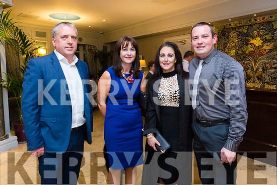 At the Austin Stacks Centenary Gala Dinner in the Rose Hotel on Saturday were Kieran Kelliher, Michelle Kelliher, Kerry Welsbury, Tim O'Rourke