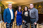 At the Austin Stacks Centenary Gala Dinner in the Rose Hotel on Saturday were Kieran Kelliher, Michelle Kelliher, Kerry Welsbury, Tim O'Rourke