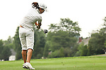 Seo-Jae Lee tees off on the 18th tee at Alliance Bank Golf Classic in Syrcause, NY.