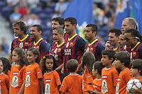 Portugal, Porto, 25/07/2014 - Despedida do jogador Brasileiro Deco no Estádio do Dragão, com as equipa que o jogador foi campeão Europeu da Champions, FC Porto 2004 vs FC Barcelona 2006 (PC: Pedro Lopes/Brazil Photo Press)