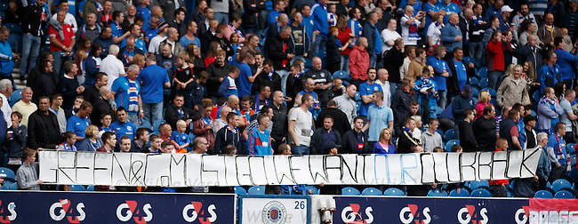 Rangers fans protesting against Charles Green