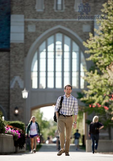 Sept. 21, 2011; Law Student Eric Hinz..Photo by Matt Cashore/University of Notre Dame