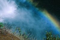 Wailua Falls and Rainbow, Kauai, Hawaii, US