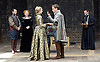The Merchant of Venice <br /> by William Shakespeare <br /> at The Globe Theatre, London, Great Britain <br /> 25th April 2015 <br /> <br /> <br /> <br /> <br /> <br /> Daniel Lapping as Bassanio <br /> Rachel Pickup as Portia <br /> <br /> <br /> <br /> Photograph by Elliott Franks <br /> Image licensed to Elliott Franks Photography Services