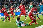 01.12.2018, Weser Stadion, Bremen, GER, 1.FBL, Werder Bremen vs FC Bayern Muenchen, <br /> <br /> DFL REGULATIONS PROHIBIT ANY USE OF PHOTOGRAPHS AS IMAGE SEQUENCES AND/OR QUASI-VIDEO.<br /> <br />  im Bild<br /> <br /> Theodor Gebre Selassie (Werder Bremen #23)<br /> Niklas S&uuml;le / Suele (FC Bayern Muenchen #04)<br /> #wb30 ball am arm<br /> <br /> Foto &copy; nordphoto / Kokenge